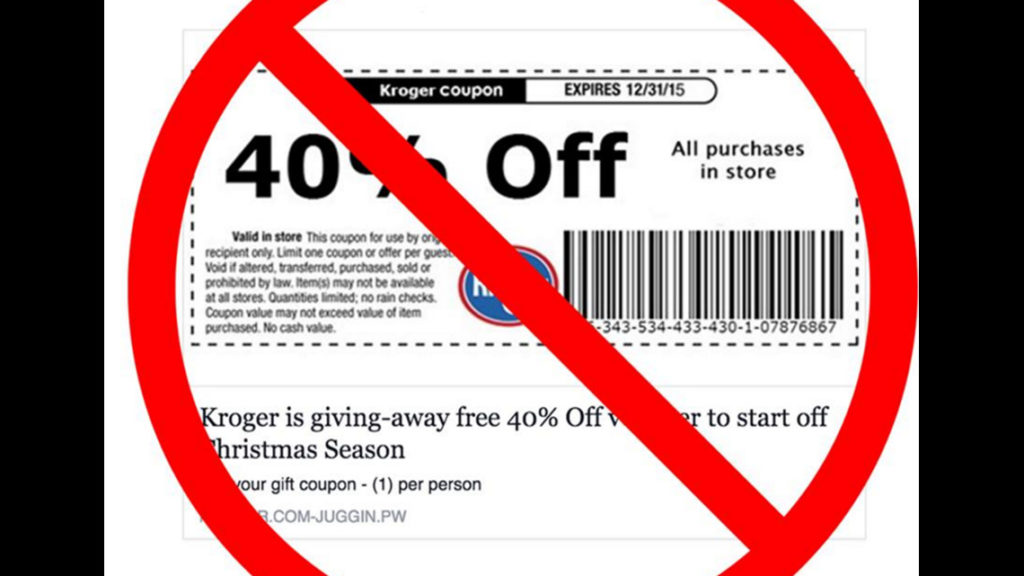 fake coupons and deal